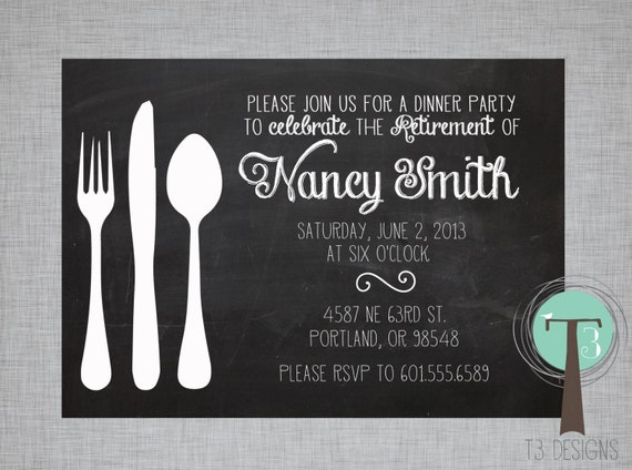 retirement party invitation dinner party invitation etsy