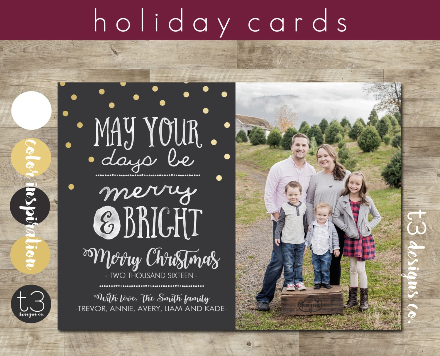 Photo Christmas Cards, Merry and Bright, Photo Holiday Cards ...