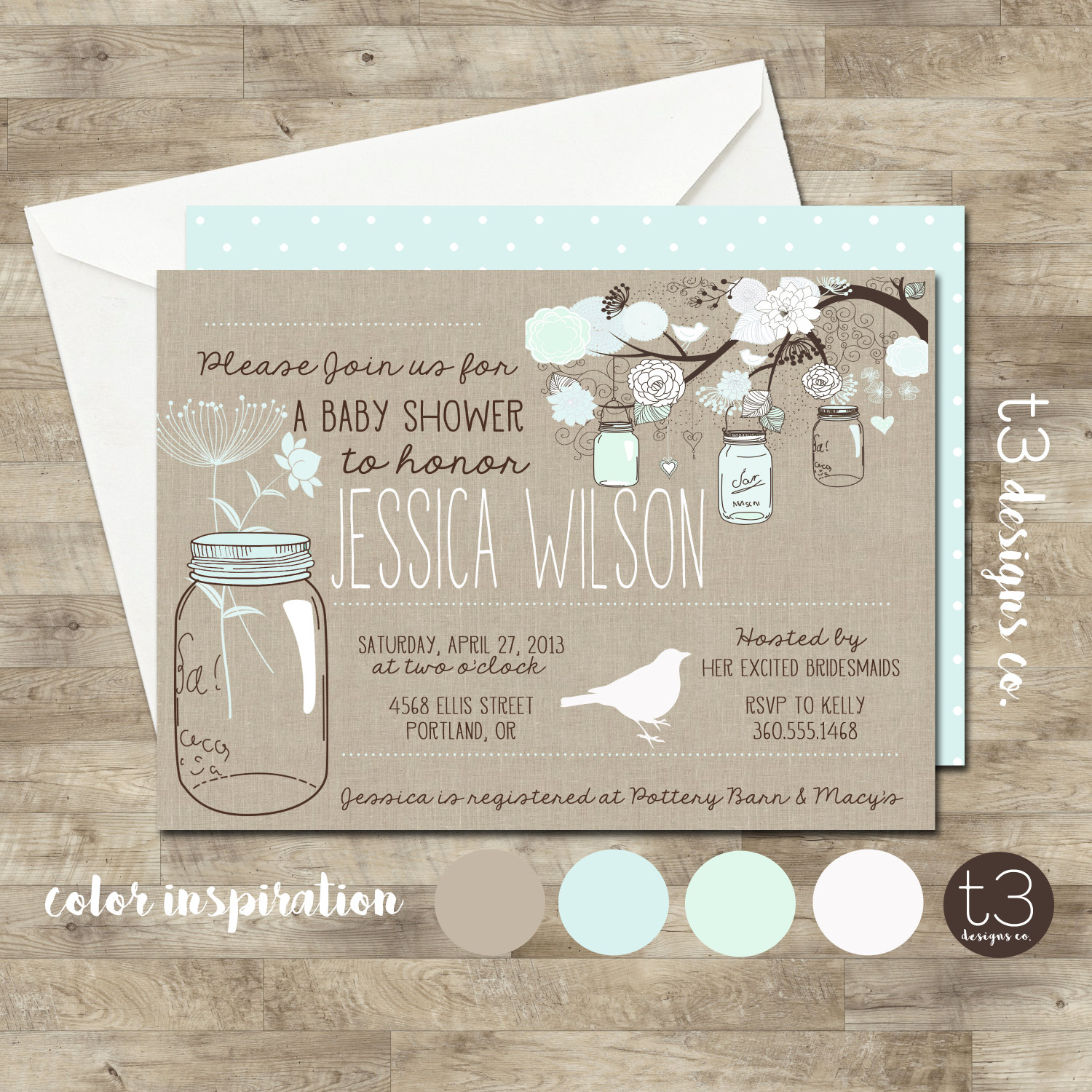 Gender neutral baby shower invitation baby shower invite mason jar gender neutral baby shower invitation baby shower invite mason jar baby shower mason jar flowers burlap baby mint front and back filmwisefo