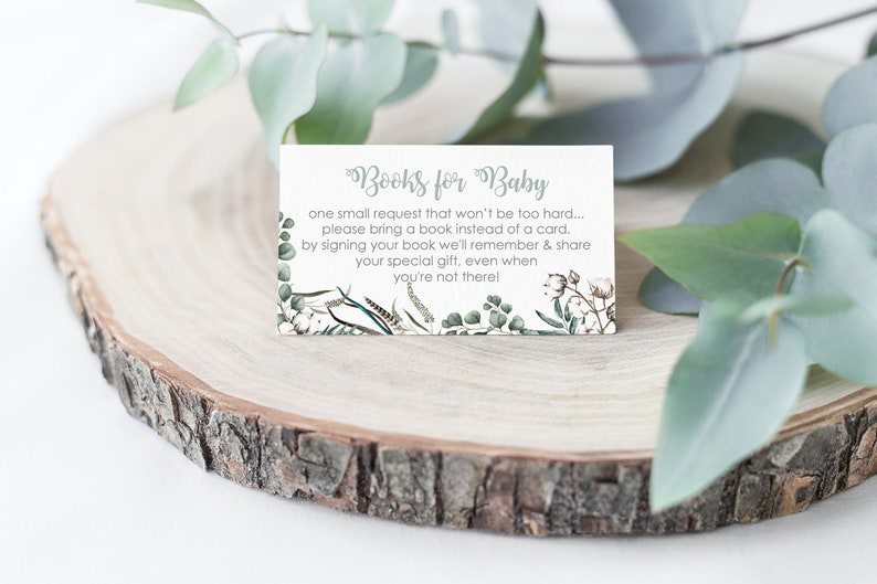 Book Request card Greenery Book Request Greenery Baby image 0