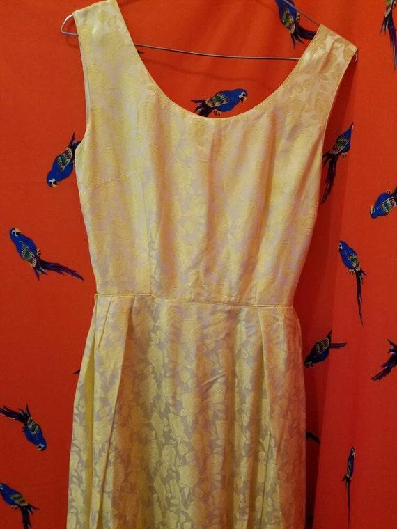 Rose Brocade 50's Dress