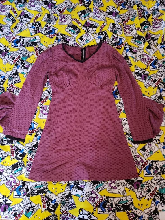 Violet Swiss Dot 60's Minidress