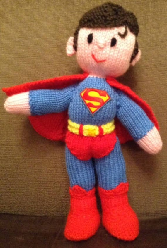 Superman Toy Knitting Pattern