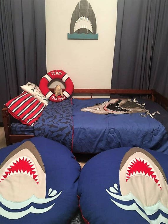 Giant Body Pillow Bean Bag Made To Order Shark Ghost Etsy