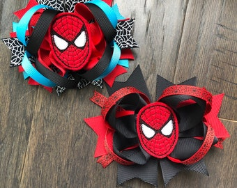 2b9be4c74eca Spiderman Superhero Avengers Marvel Hair bow hair clip