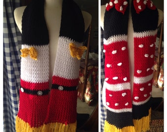 Mickey and Minnie Scarves there are 2