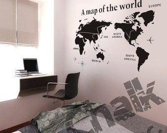Blackboard world map etsy popular items for blackboard world map gumiabroncs Gallery