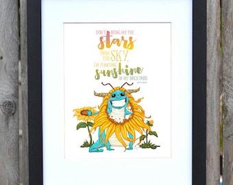 Sunshine creature Print
