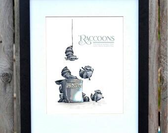 Ninja Raccoons   print