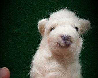 Sarah's Lamb, needle felted lamb, needle felted sheep,