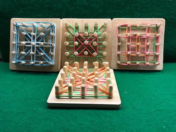 Puzzle en bois, Puzzle bande de caoutchouc,