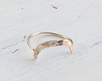 Gold filled ring,Arc ring,dainty arch ring,minimalist ring,arch ring,stackable ring,gold ring,handmade jewelry,gift for her,dainty ring