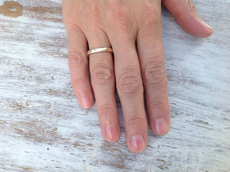 gold wedding band gold knuckle ring- R7 gold ring stack ring handmade ring band ring stacking rings wedding ring