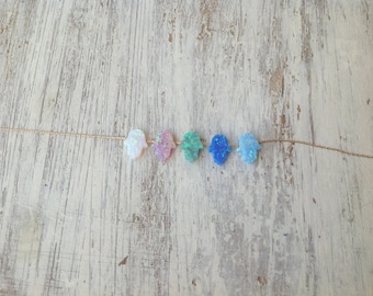 Hamsa necklace, gold necklace, opal hamsa necklace, turquoise necklace ,14k gold filled , luck necklace, blue hamsa necklace -629