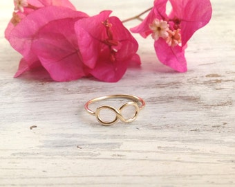Infinity ring, infinity knot, gold ring, infinity knot ring, above knuckle ring, knuckle ring,Infinity jewelry - 1002