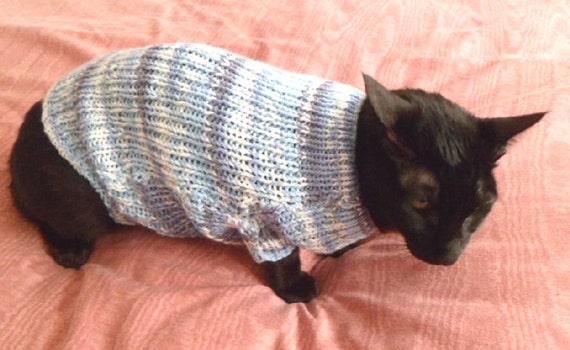 Cat Sweater Knitting Pattern Etsy