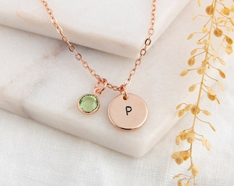 14k Gold Ruby July Birthstone Cursive Letter Z Dog-tag Necklace