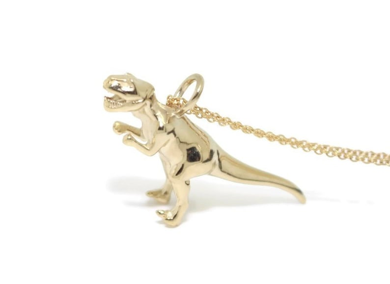 Gold T Rex Sterling Silver Gold Dinosaur Necklace Dinosaur Gifts Minimalist Necklace Dino Dinosaur Gold Necklace T Rex Necklace