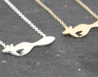 Fox Necklace, Fox Lover Gift, Fox Jewellery, Woodlands Jewellery, Cute Fox Necklace, Foxy Necklace, Silver Fox Necklace, Gold Fox Necklace