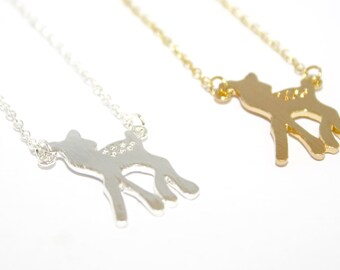 Bambi Necklace, Deer Necklace, Fawn Necklace, Cute Deer Jewellery, Animal Necklace, Woodlands Necklace, Woodlands Jewellery, Deer Gift