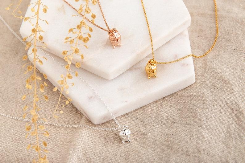 Rose Gold Hamster Gold Necklace Gift for Her Hamster Necklace Personalised Necklace Rose Gold Necklace Pet Necklace Animal Lover Gift