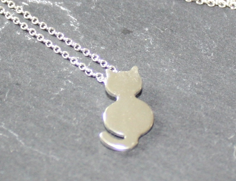 Cat Jewellery Silver Cat Necklace Cat Necklace Kitty Jewellery Kitty Necklace Gold Cat Necklace Cat Lover Gift Mad Cat Lady Gift
