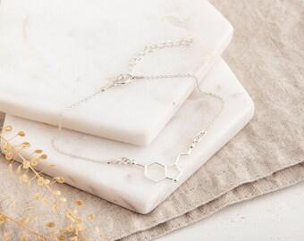 Serotonin Bracelet, Serotonin Molecule Bracelet, Charm Bracelet, Anxiety Jewelry, Chemistry Jewellery,  Molecular Structure Bracelet