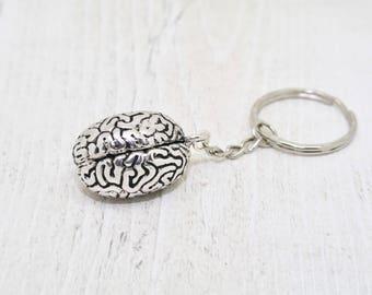 Brain Keyring, Genius Keyring, Secret Santa Gift, Quirky Gift, Macabre Keyring, Brain Keychain, Macabre Gift, Gift for Him, Gift for Her