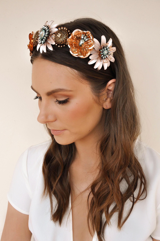 The aida crown spring racing flower crown rose floral headpiece izmirmasajfo