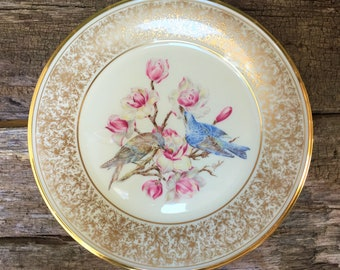 Vintage Limited Edition Plate Lenox China Plate American Boehm Birds Plate Edward Marshall Boehm Plate Collectible Plate