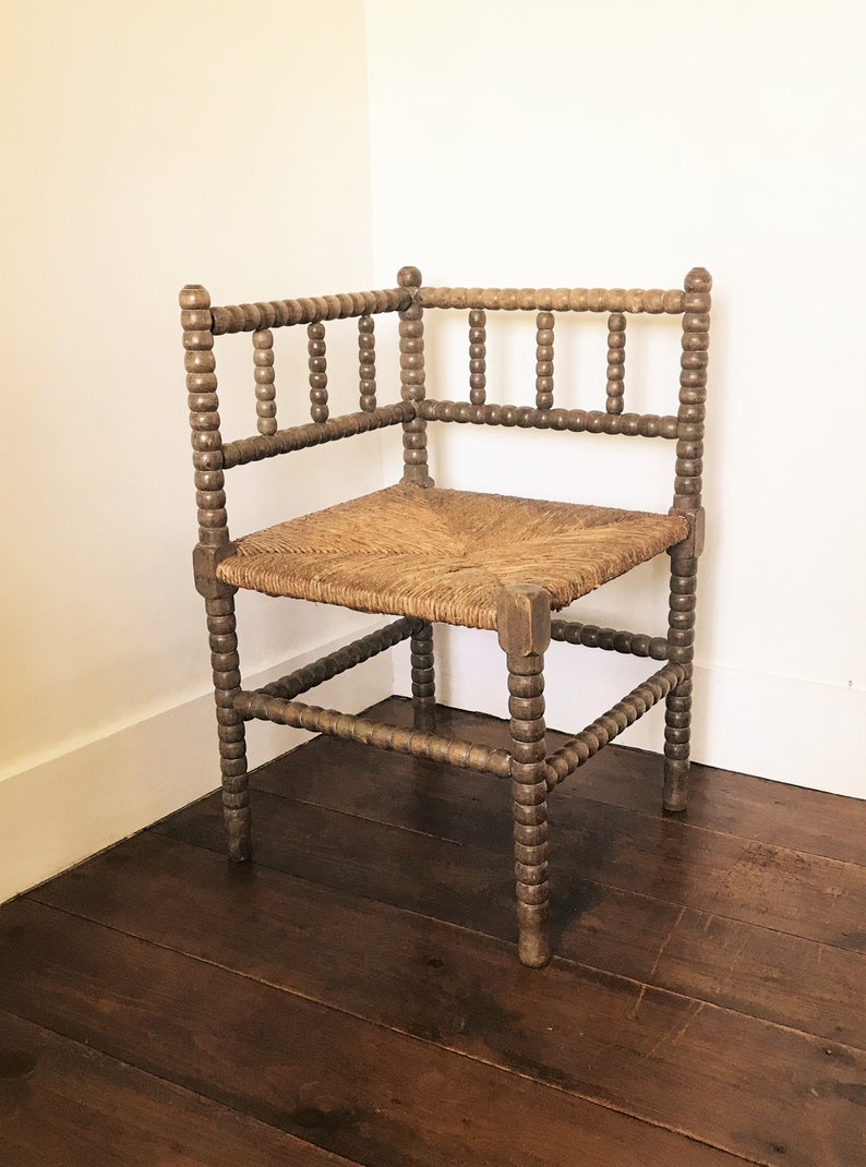 Item Reserved Antique Bobbin Chair Small Bedroom Chair Victorian Corner Chair Arts And Crafts Chair