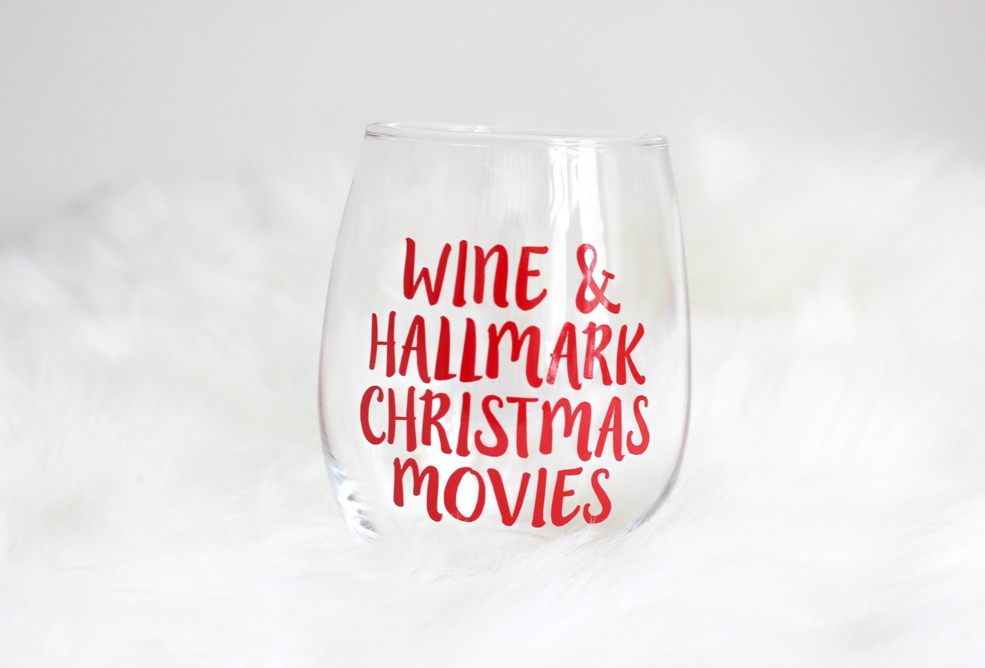Hallmark Christmas Movies and Wine Glass Hallmark Gifts | Etsy
