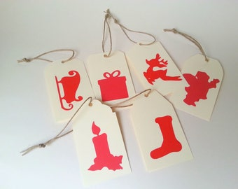 6 gift tags for Christmas gifts