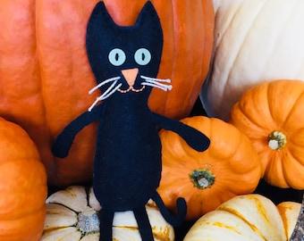 Spooky Stuffed Halloween Cat Pattern - A Wool Stitched Pretty