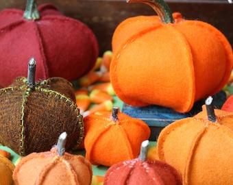 Autumn Pumpkin Patch Pattern - A Wool Stitched Pretty