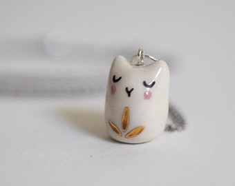 collier pendentif chat