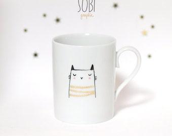 "Mug ""cat"" Handpainting"