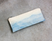 Landscape Pouch - New Hampshire, Blue Make Up Bag and Vegan Pencil Case, Back to School