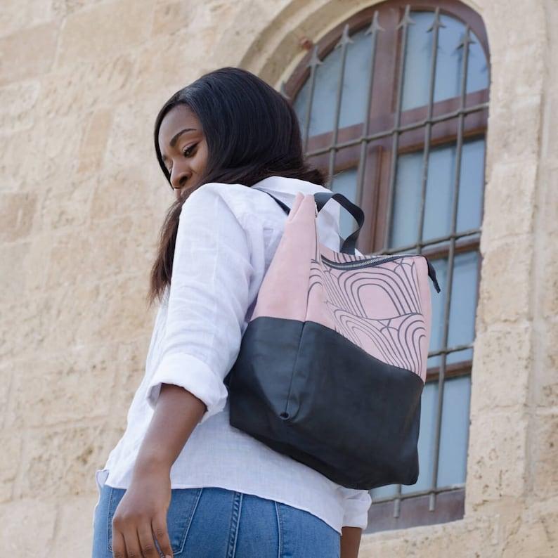 d503261df4f0 Faux Leather backpack Vegan bag Women backpack Rucksack