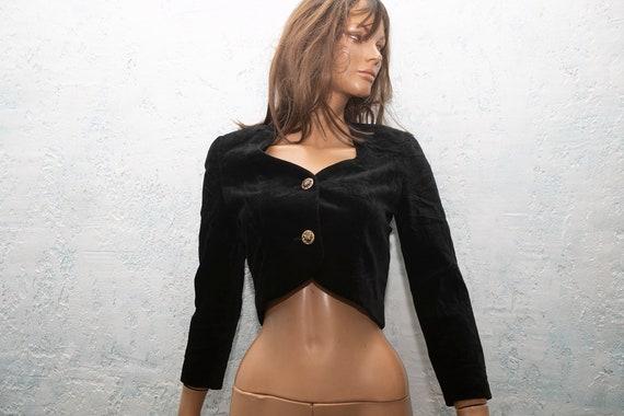Karl Lagerfeld 90s black velvet Jacket/ Vintage Ka
