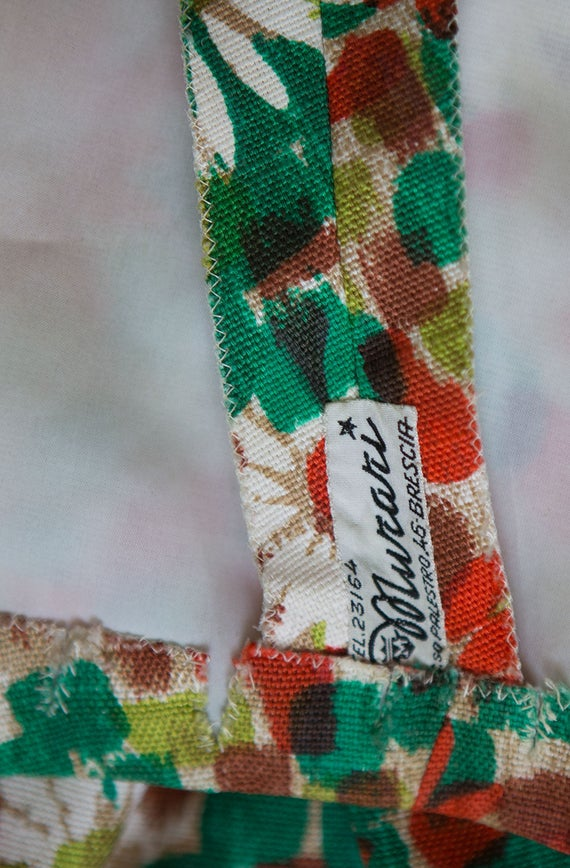 dress green print 1950s M Vintage cotton S dress length red summer party day knee garden daisies white wTwAUq6nx