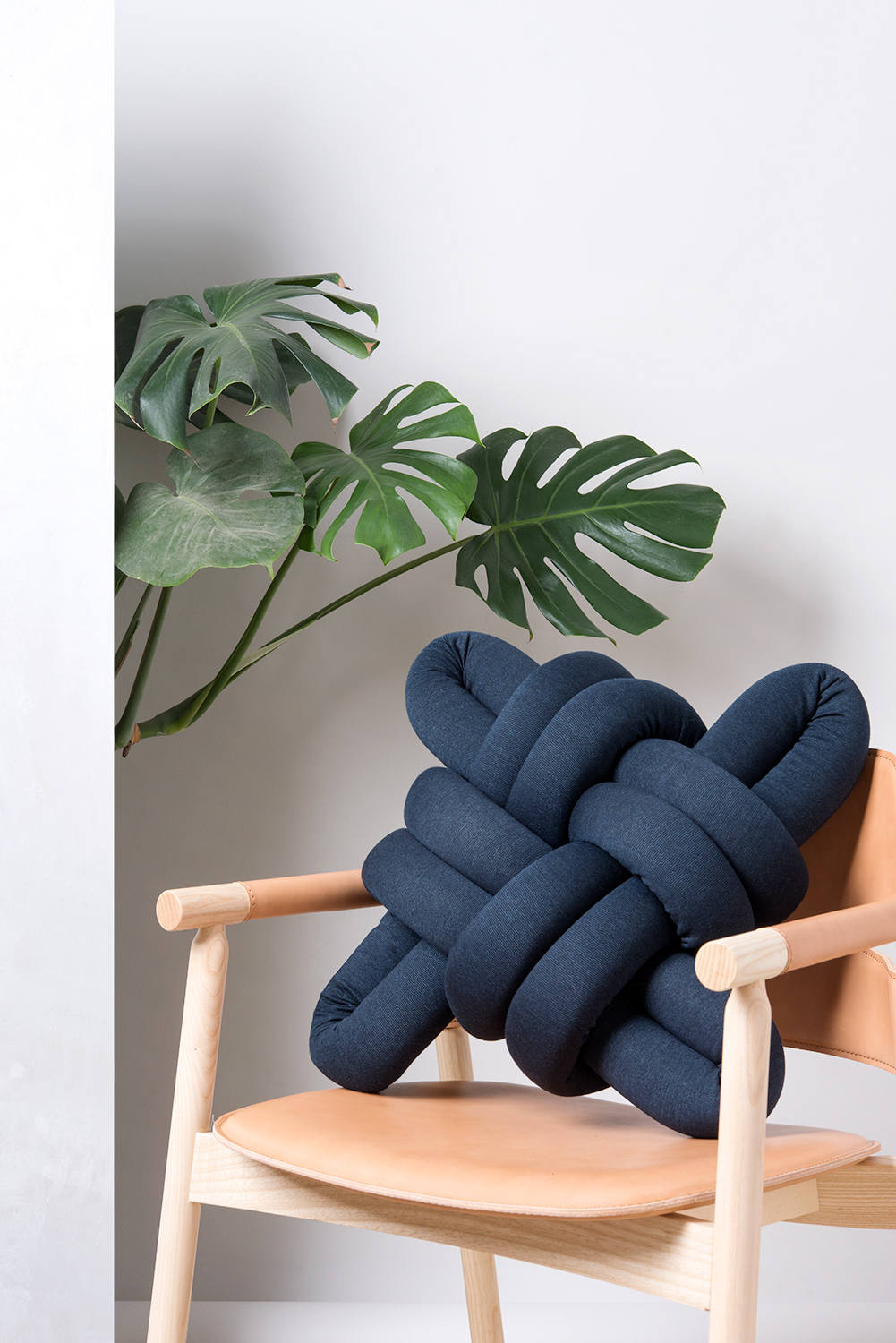 Dark Blue Knot Pillow Knot Pillows Knot Cushions Dark Etsy
