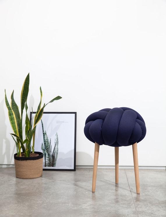 Dunkel blau Knoten Hocker Design-Stuhl moderner Stuhl