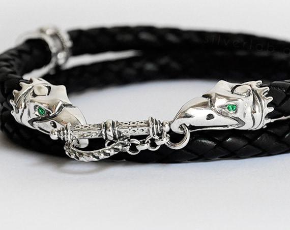 "Crixus's Necklace  ""Harbinger of Death"" Champion of Capua Gladiator Necklace, Spartacus Jewelry, Silver Crow Necklace Custom Gemstone"