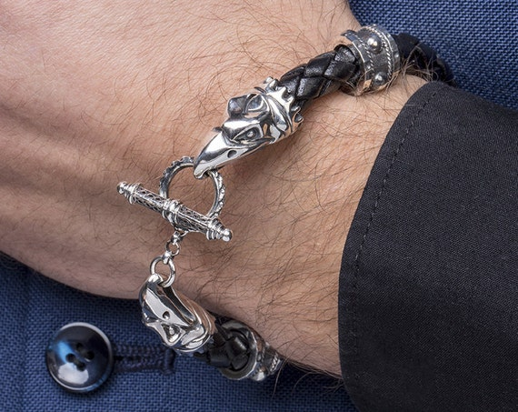 "Crixus Crow Bracelet ""Harbinger of Death"" - Spartacus / Champion of Capua Crow Scull Bracelet"