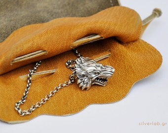"House of Stark Necklace. ""Game of Thrones "" inspired ""HOUSES OF WESTEROS"" Ultimate Collection by Silver lab,  Direwolf Animal Necklace"