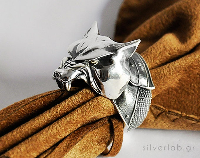 "Featured listing image: The Hound, Sandor Clegane, House Clegane Ring, ""Game of Thrones "" inspired ""Houses of Westeros"" Jewelry ,  Dog Animal Ring"
