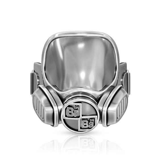 Hazmat Mask ring Inspired by Breaking Bad show, Walter White Ring, Heizenberg sterling silver chemical mask ring