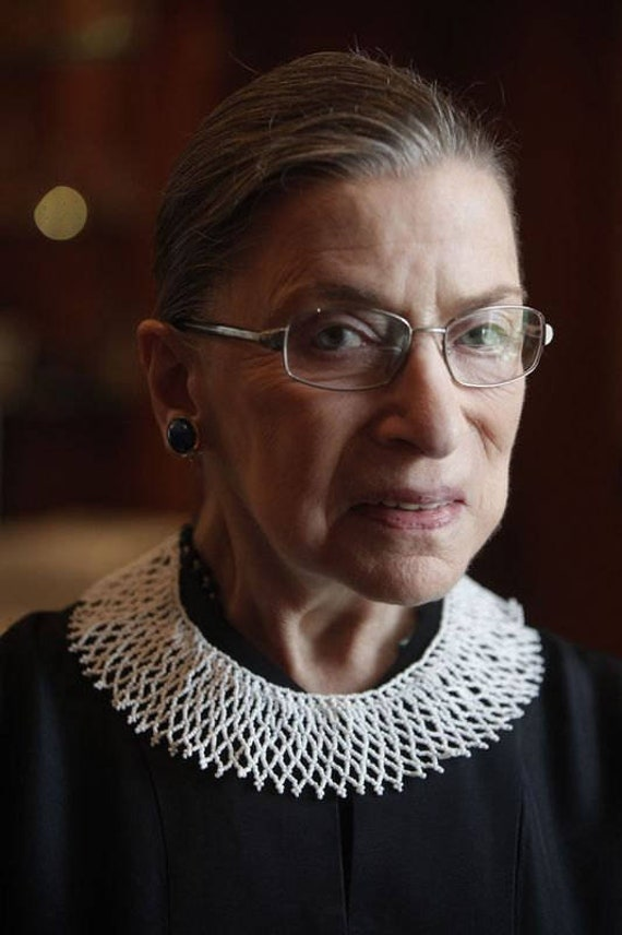 Ruth Bader Ginsburg, lace necklace, victorian necklace, supreme court, beaded necklace, white choker, ruth bader ginsburg, dissent collar