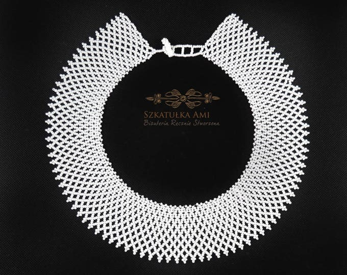 Rutha Bader Ginsburg, lace necklace, victorian necklace, supreme court, beaded necklace, white choker, ruth bader ginsburg, dissent collar